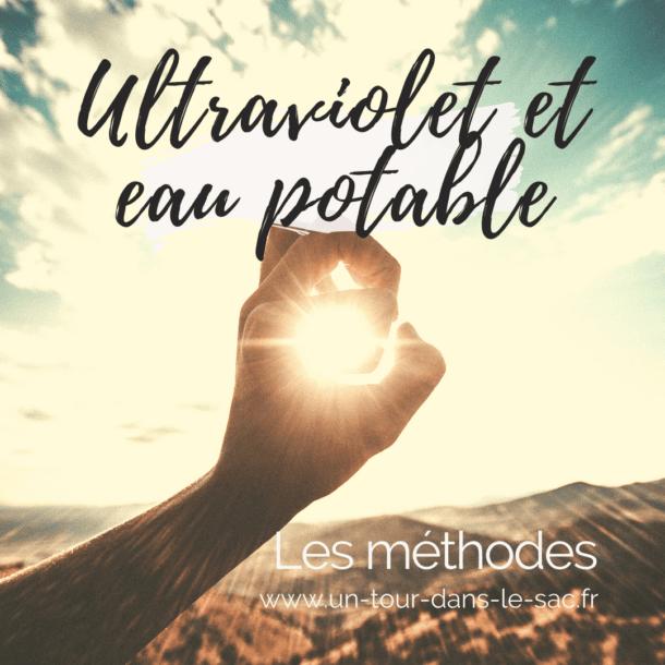 Eau potable et ultraviolets