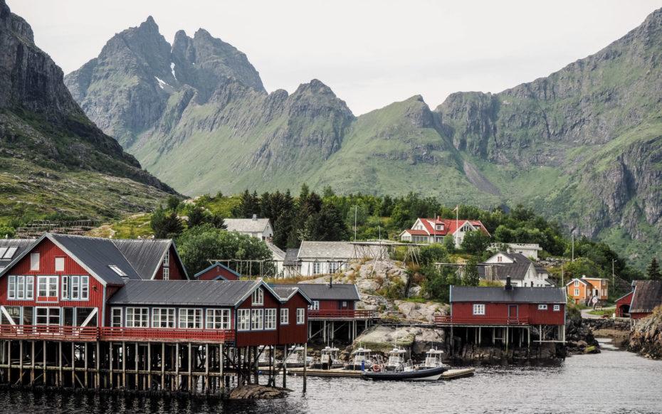 Å i Lofoten le port