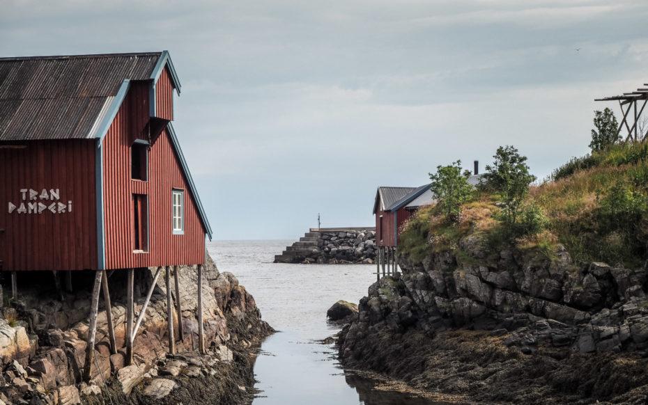 Å i Lofoten, maison sur pilotis