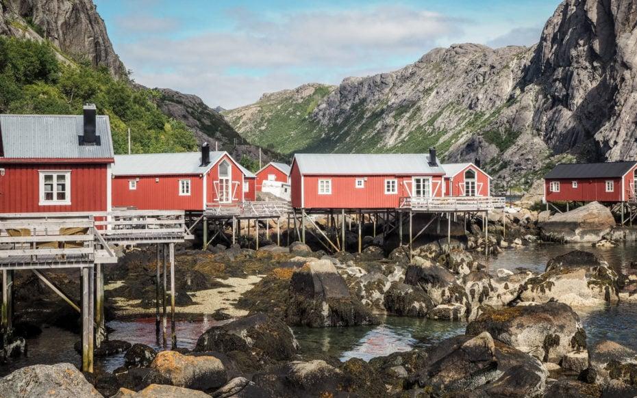 Nusfjord, Lofoten : maisons sur pilots