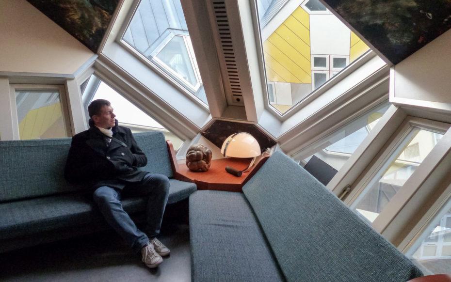 Rotterdam visite Le mobilier d'une maison cube