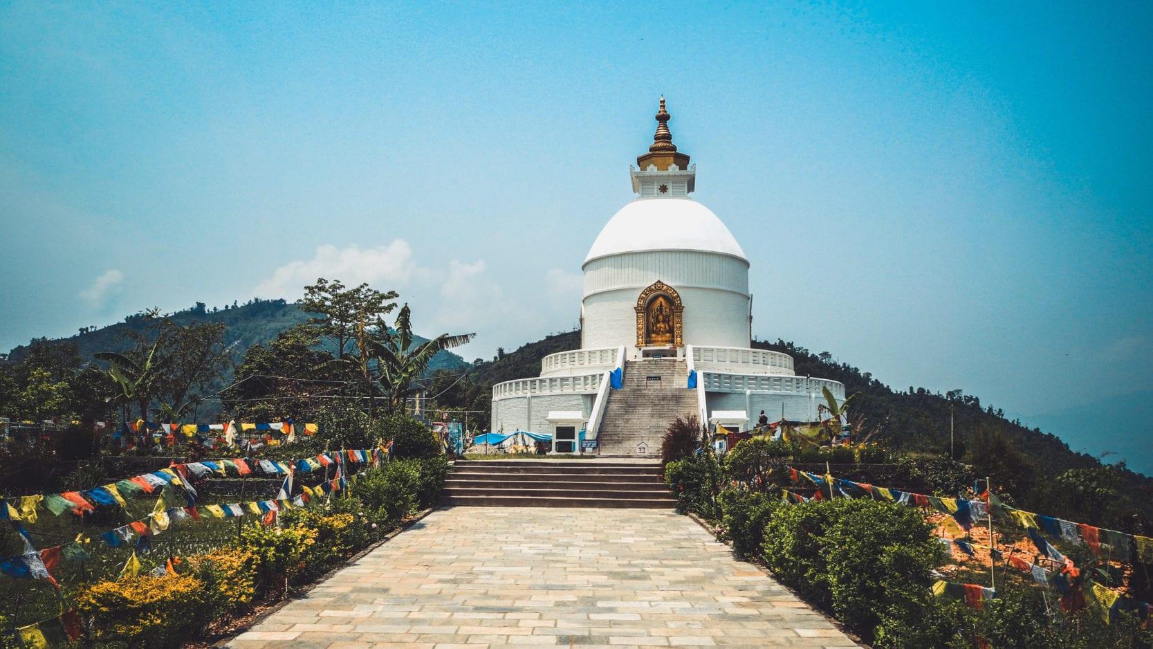 Pokhara pagode de la paix