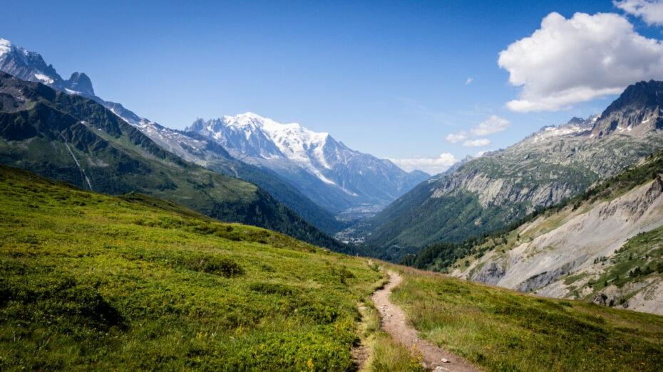 Mont Blanc depuis le col de Balme