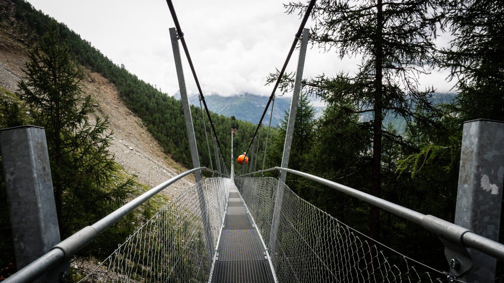 pont suspendu piéton europaweg