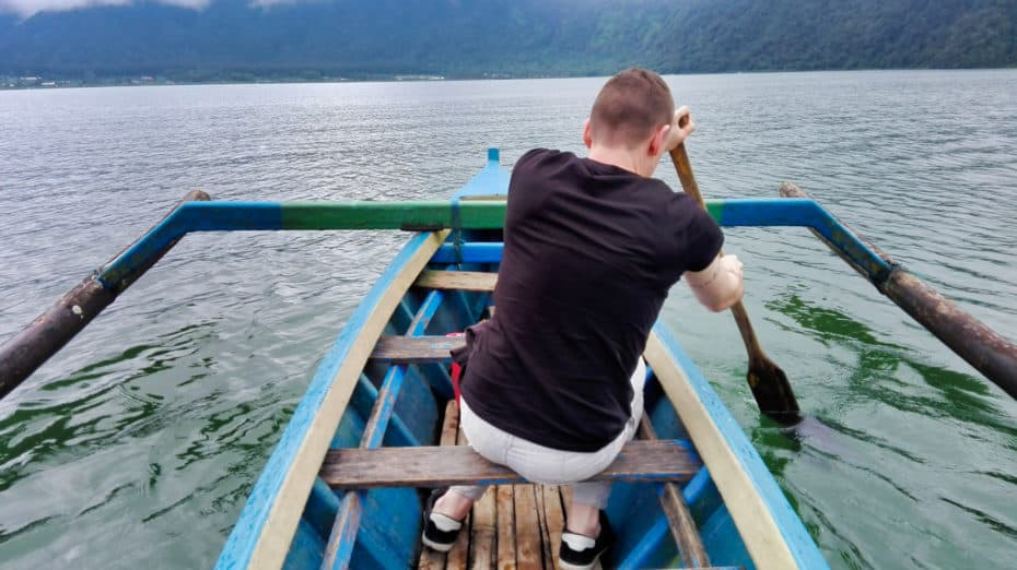 Pagayer lac Bratan Bali