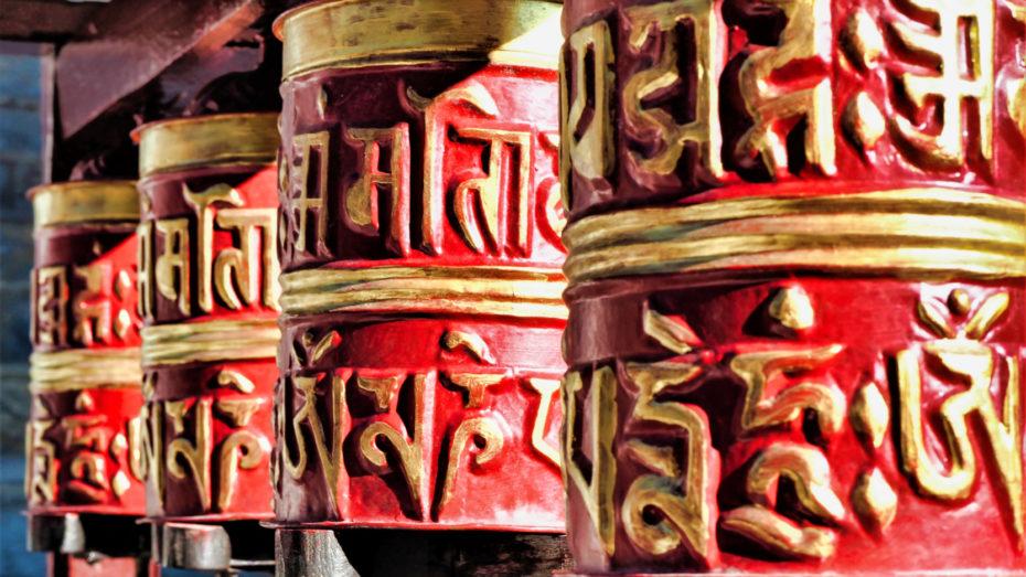 Moulins à prières Népal