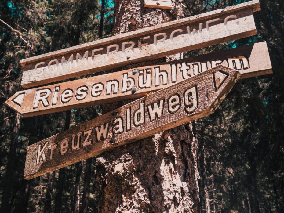 randonnées panneaux Forêt-noire