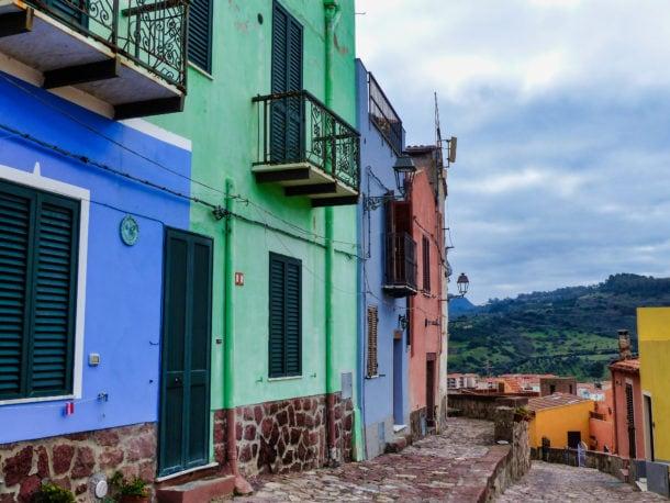 Maisons colorées Bosa