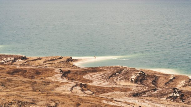Bord de la mer morte Jordanie