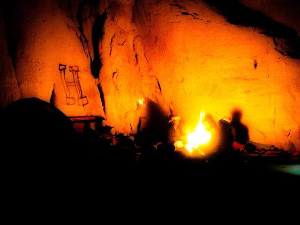 feu de camp Wadi Rum