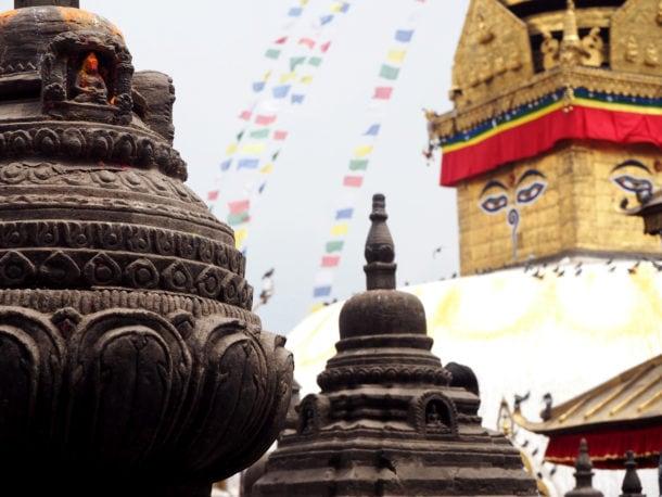 site de Swayambunath et ses temples