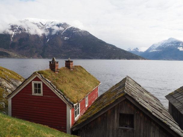 Utnes maisons du petit port