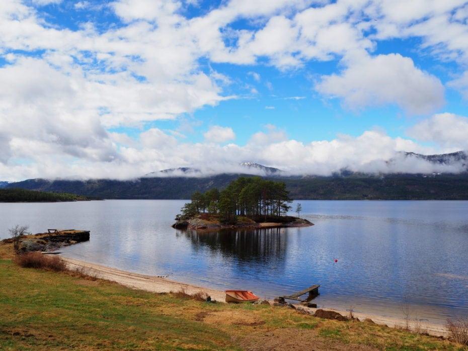 Lac dans le télémark