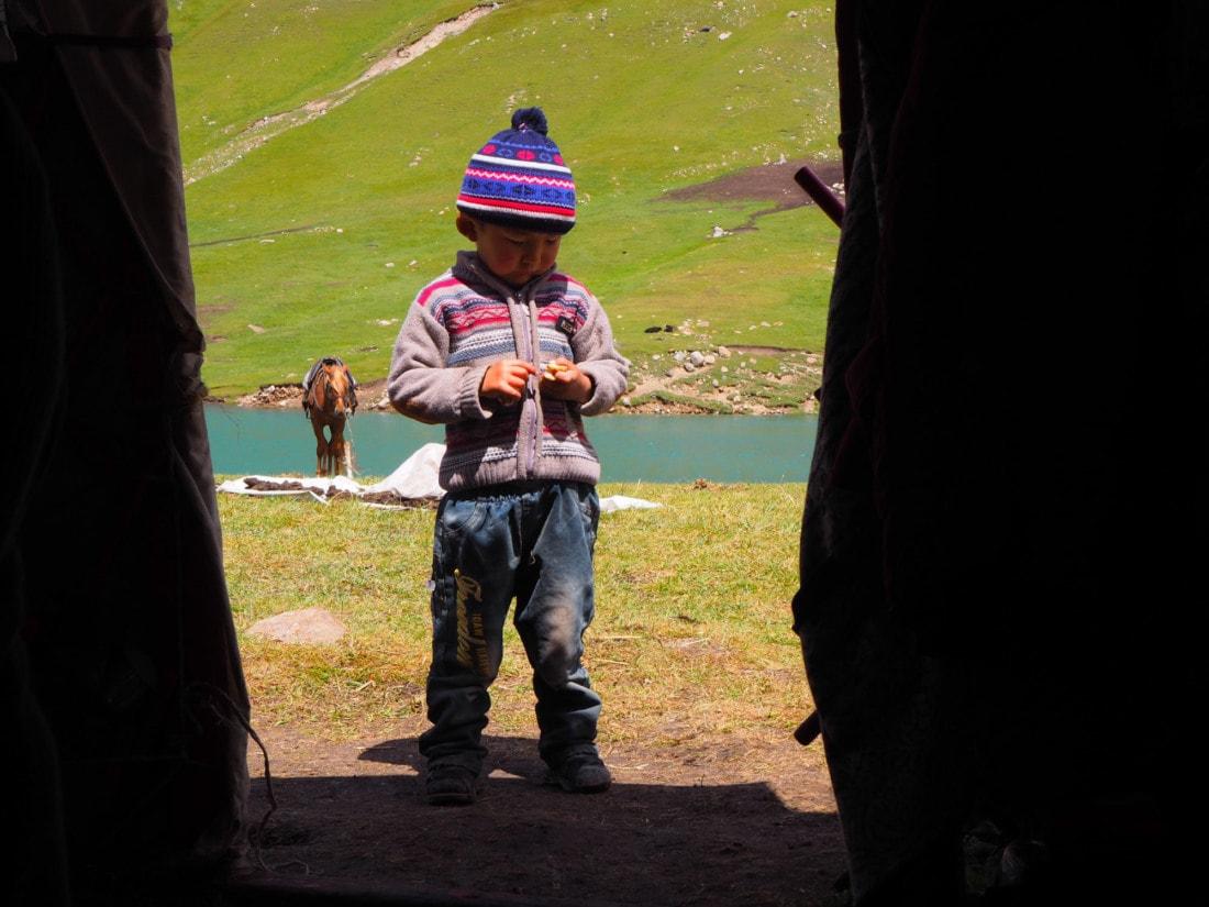 Enfant kirghizes