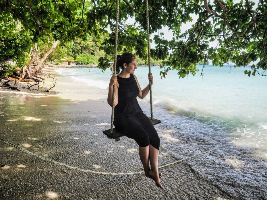 balançoire plage sumatra