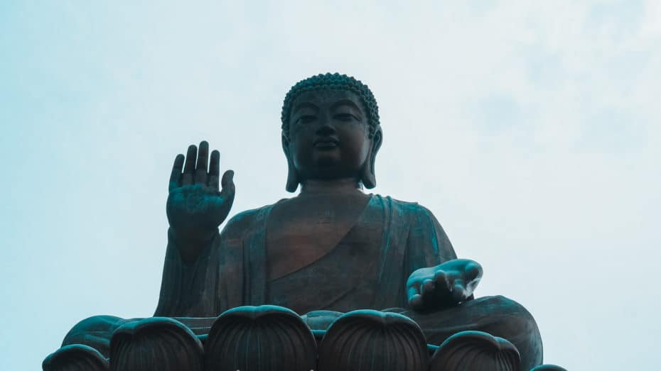 grande statue bouddha assis Hong Kong
