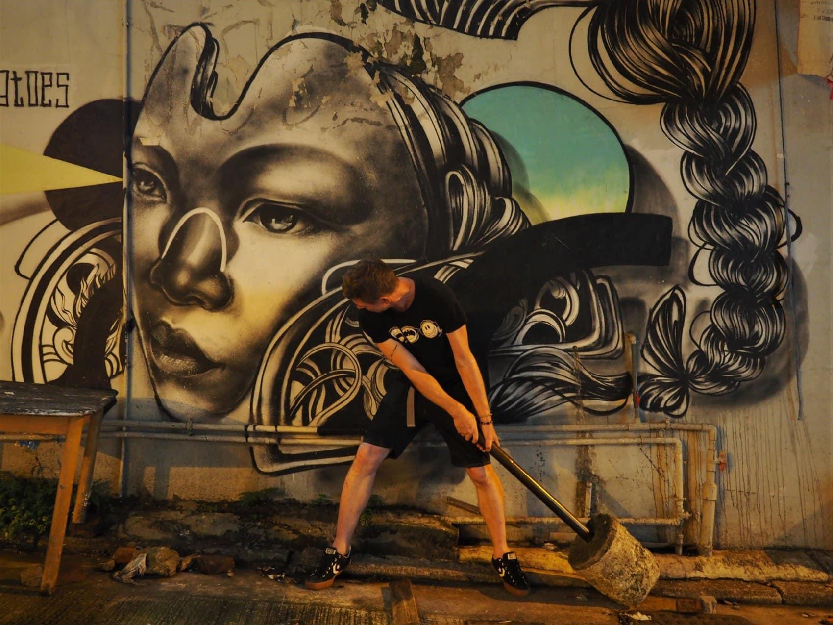 Street Art Femme Hong Kong