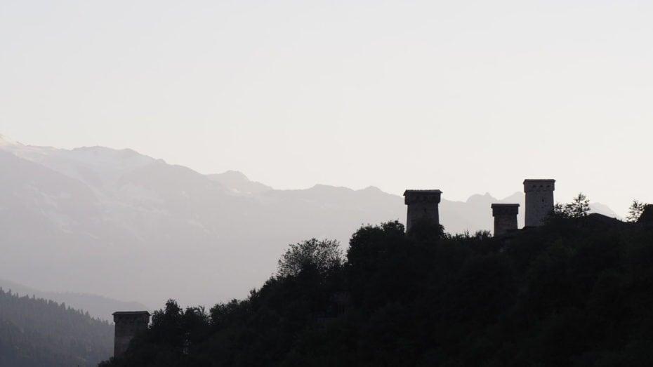 Les tours défensives de Géorgie.