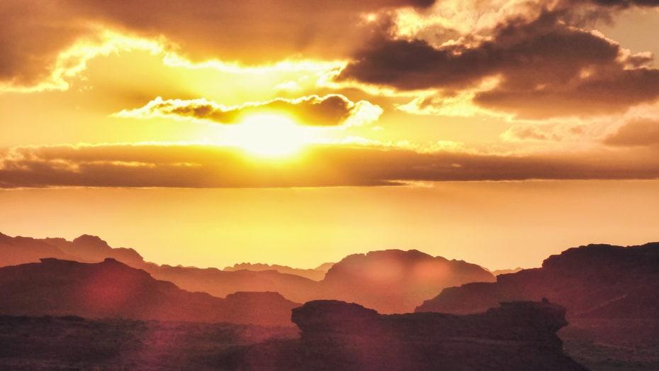 sunset Wadi Rum