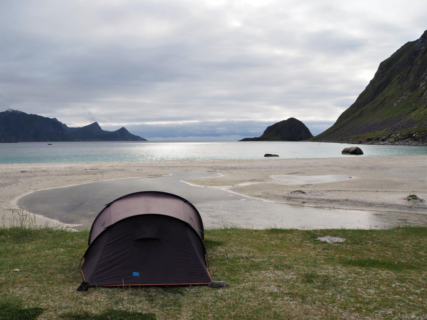voyage Lofoten Bivouac Plage